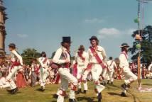 Morris Dancing Lawn Sherborne